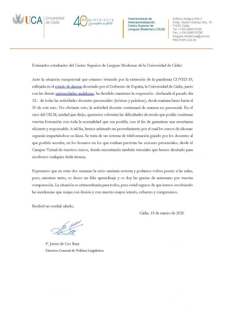 IMG Comunicado de la Dirección General de Política Lingüística