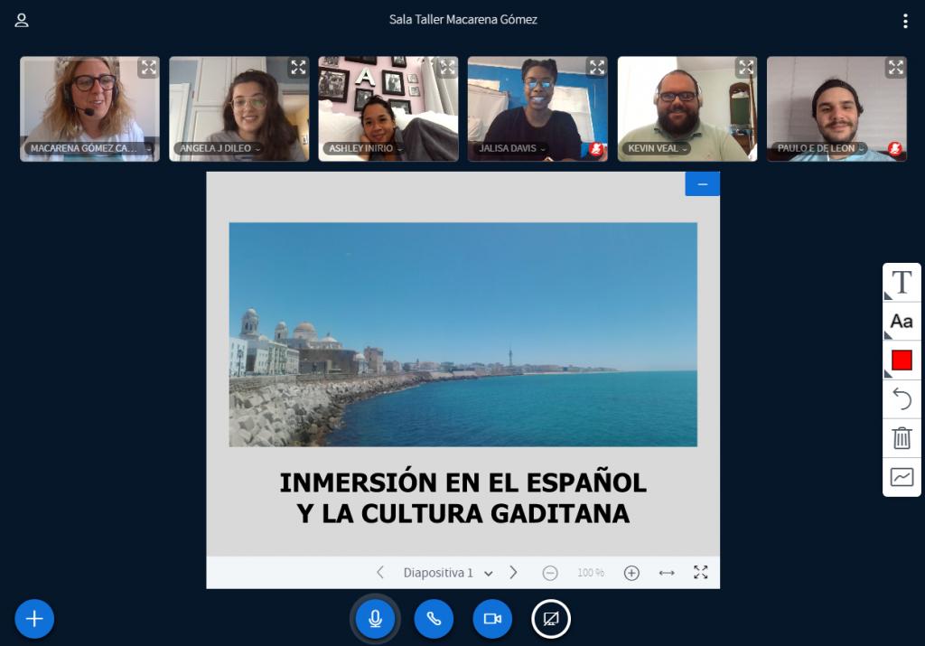 Éxito de los talleres online de inmersión en el español